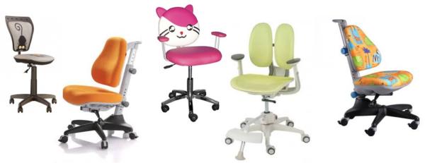 Ортопедические кресла для детей имеют очень разнообразный дизайн и широкий выбор расцветок