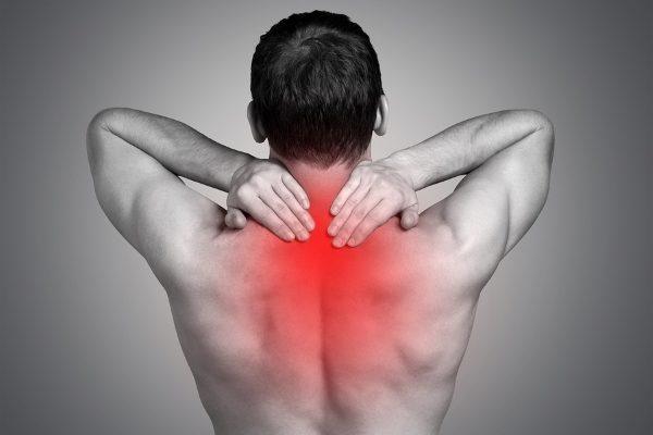Острая боль в верхней части спины
