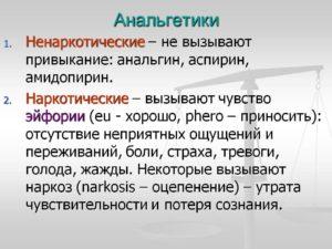 Анальгетики:«Анальгин», «Бутадион», «Кетанол», «Трибузон», «Баралгин».