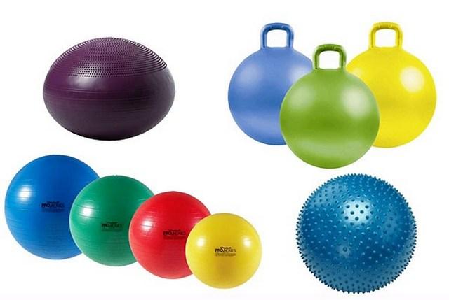Существуют разные виды гимнастический мячей, каждый из которых имеет свои плюсы