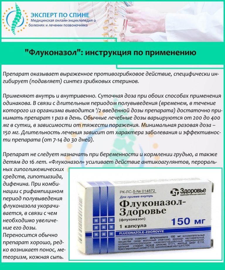 Флуконазол дозировка при грибке стопы