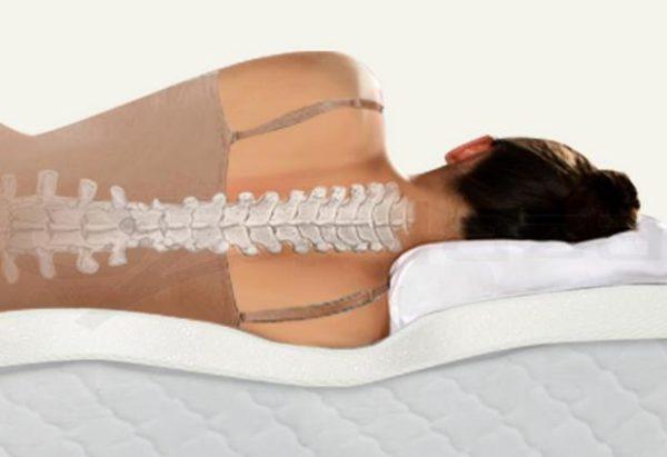 Во время сна на ортопедическом матрасе позвоночник принимает единственно правильное положение