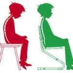 Правильная поза во время сидения