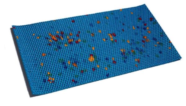 Аппликатор Ляпко в виде коврика с шагом игл 6,8 мм