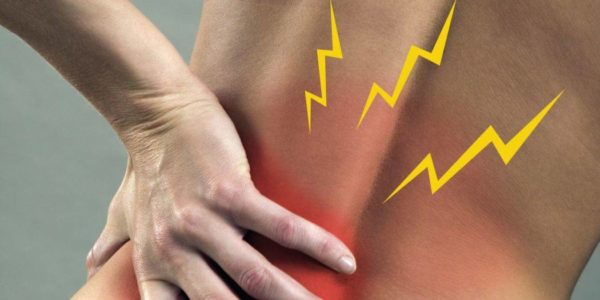Боль локализуется в основном в пояснично-крестцовой области