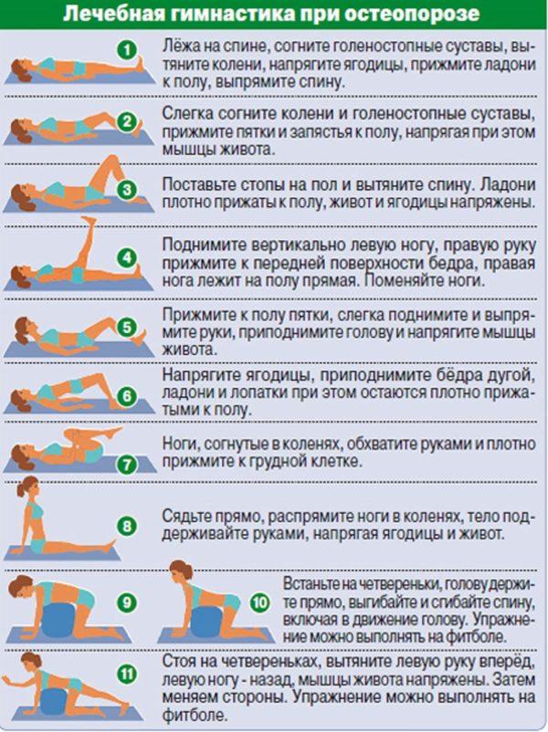 Полезные упражнения при остеохондрозе