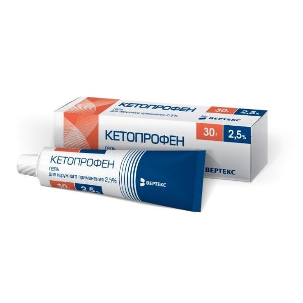 Препарат Кетопрофен в форме геля
