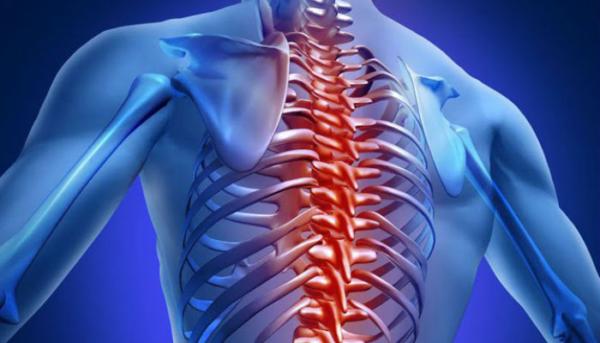 При протрузии боль может распространяться по всему позвоночному столбу