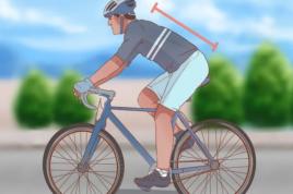 Старайтесь во время езды держать спину ровно