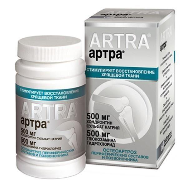 Таблетки Артра для стимуляции восстановления хрящевой ткани