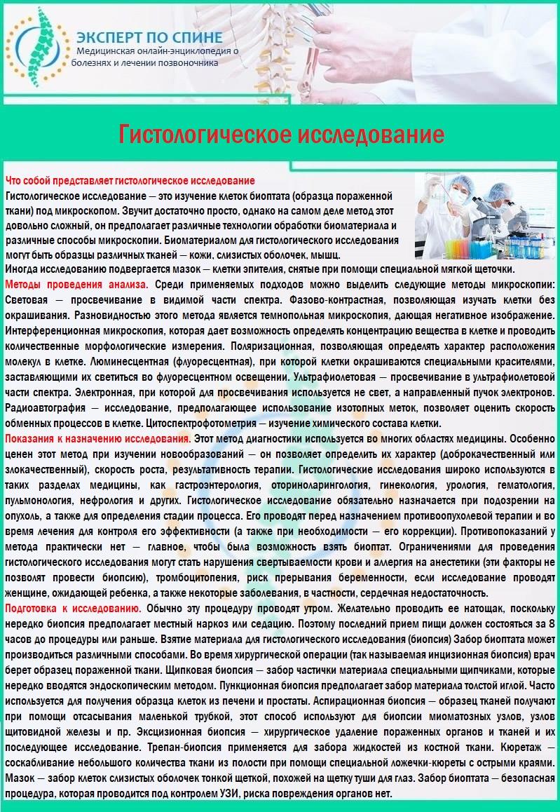 Гистологическое исследование биоптата
