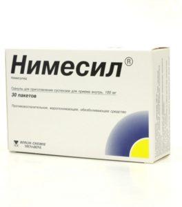 Основным действующим веществом «Нимесила» является нимесулид