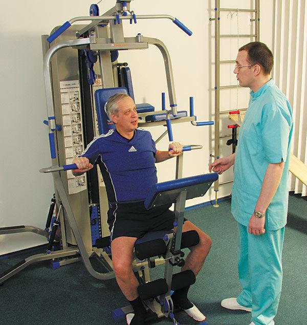 Для успешного лечения больной должен регулярно посещать кабинет ЛФК