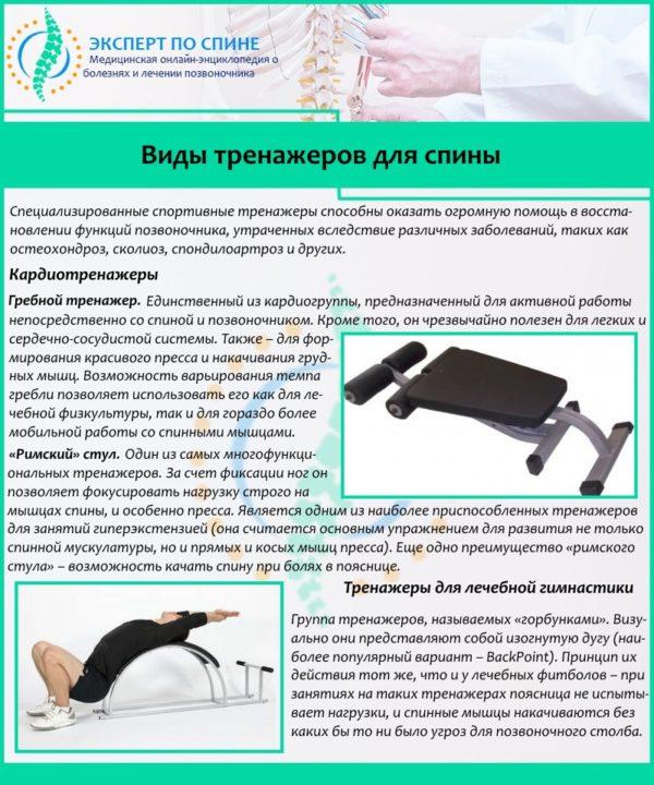 Виды тренажеров для спины