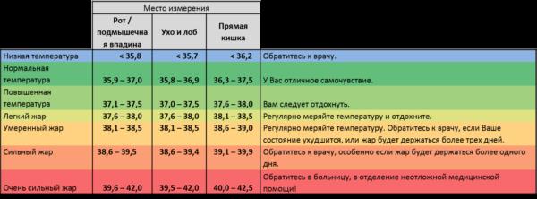 Температура тела человека