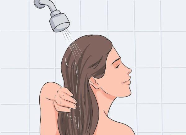 Хорошо смывайте шампунь и мыло с тела