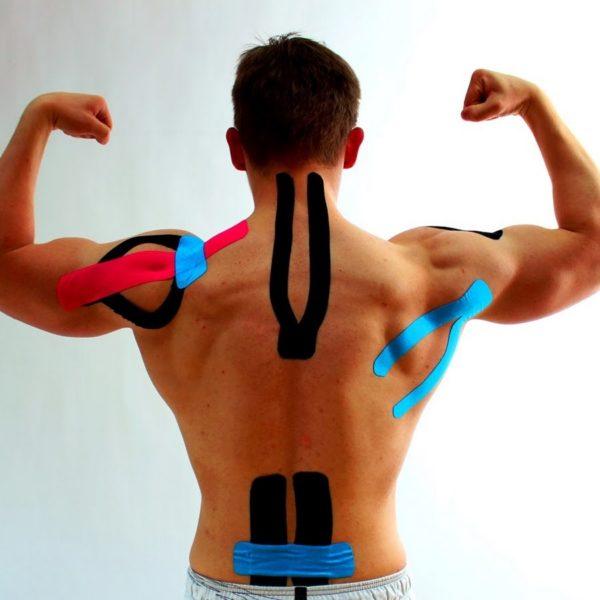 Тейпирование применяют с целью снятия болевых ощущений при травмах и болезнях позвоночника