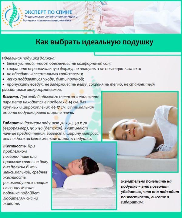 Как выбрать идеальную подушку