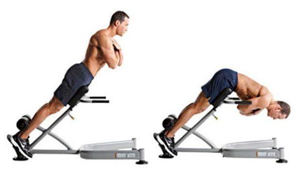 Гиперэкстензия способствует укреплению мышц позвоночника