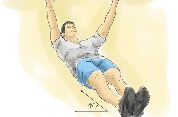 Подтягивания своего тела под углом