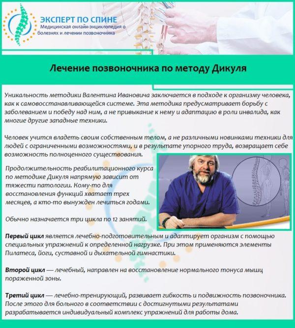 Лечение позвоночника по методу Дикуля